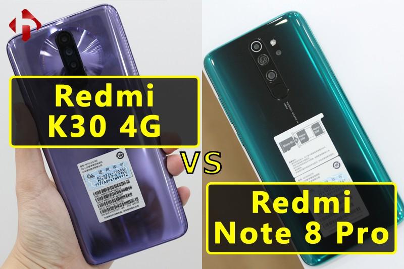 So Sánh Redmi K30 4G và Redmi Note 8 Pro