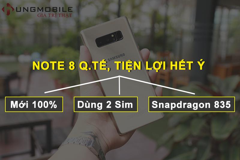 Hết hứa lèo: Galaxy Note 8 2 Sim đã về hàng, giá cực sốc, thay thế hoàn toàn cho bản Hàn