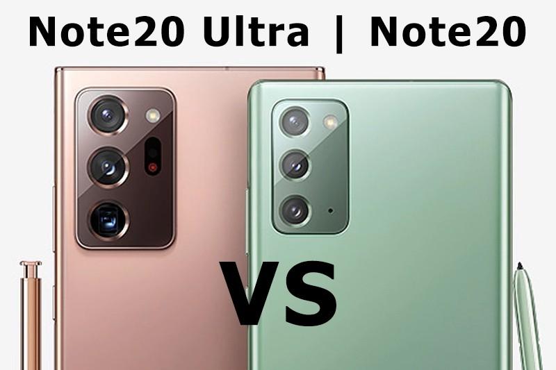 So sánh Galaxy Note 20 và Note 20 Ultra   Khoảng cách giữa tối đa & tối thiểu