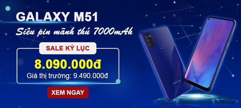Samsung M51  Sale Kỷ Lục  T.Kiệm 1.4tr