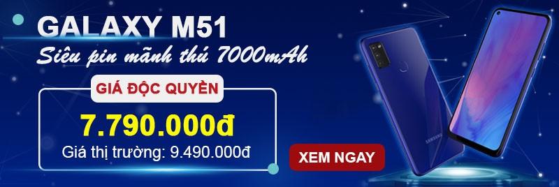 Samsung M51| Sale Kỷ Lục| T.Kiệm 1.4tr