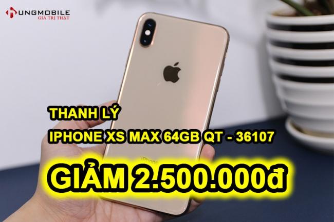 iPhone XS Max 64GB Gold cũ (36107)