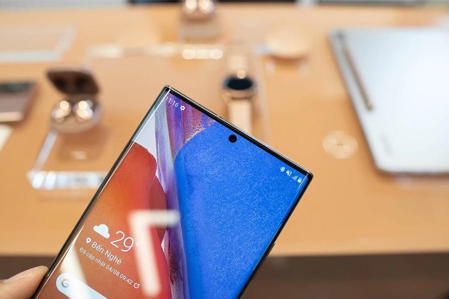 Màn hình trên Samsung Note 20 Ulra 5G Chính hãng