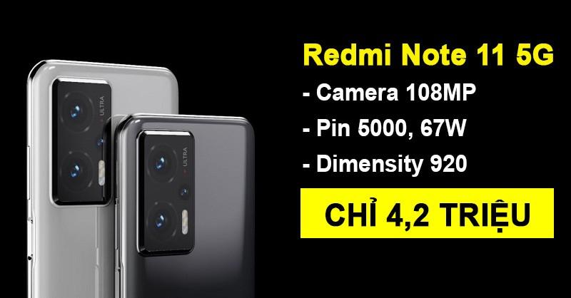 Rò rỉ Redmi Note 11 5G: Dimensity 920, OLED màn 120Hz, pin 5000 giá chỉ đúng 4.2 tr