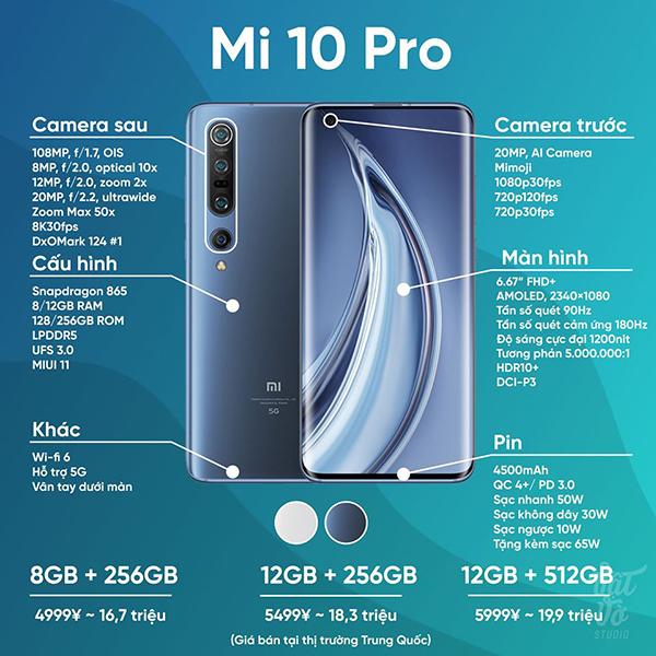 [Tổng hợp] Cấu hình, giá bán của Mi 10/Mi 10 Pro 5G: Công nghệ này thì đừng kêu đắt
