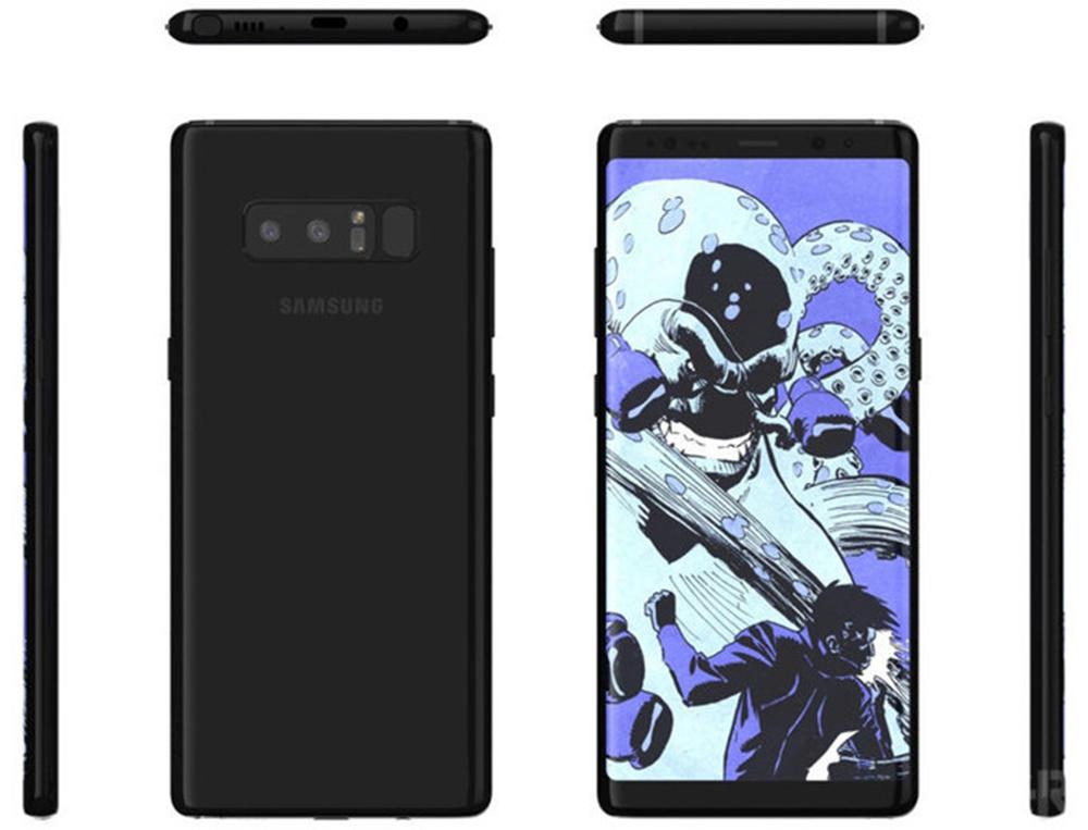 Thiết kế hoàn thiện của Galaxy Note 8