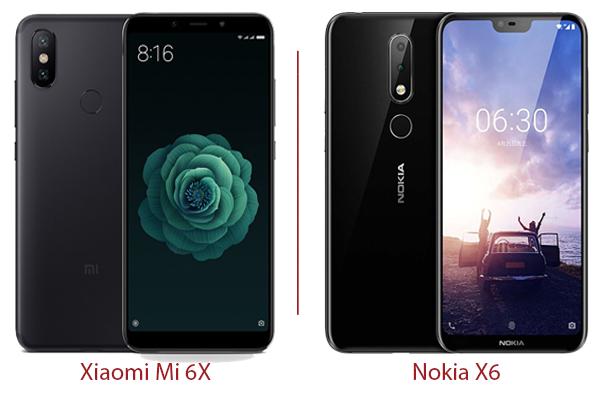 thiết kế Nokia X6 và Xiaomi mi 6X