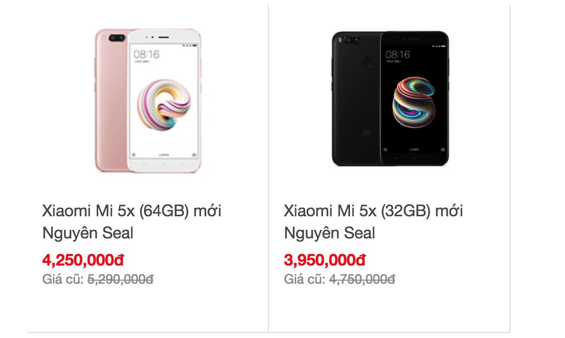 Xiaomi 5X chính hãng giá rẻ