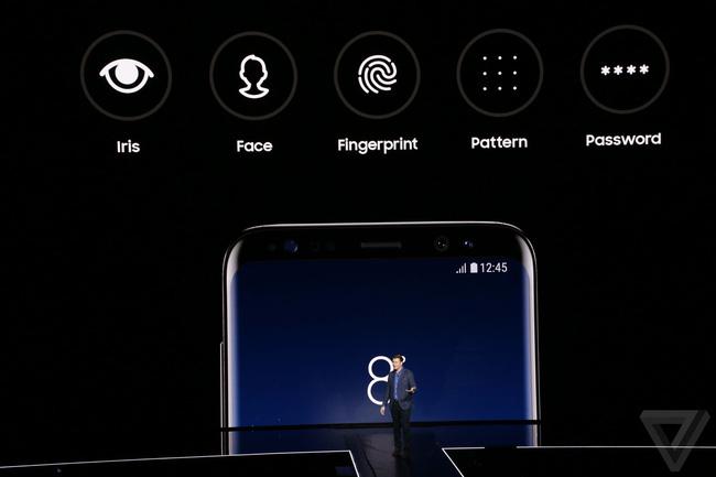 Các tính năng bảo mật hấp dẫn trên Galaxy S8 Plus