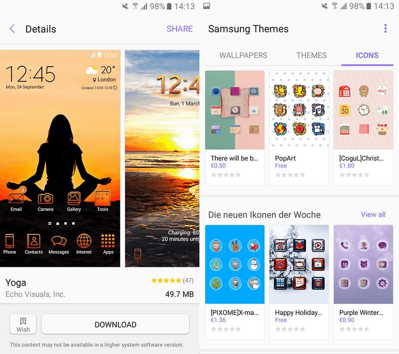 Thay đổi giao diện trên Galaxy A7 2017 nhờ Samsung Themes