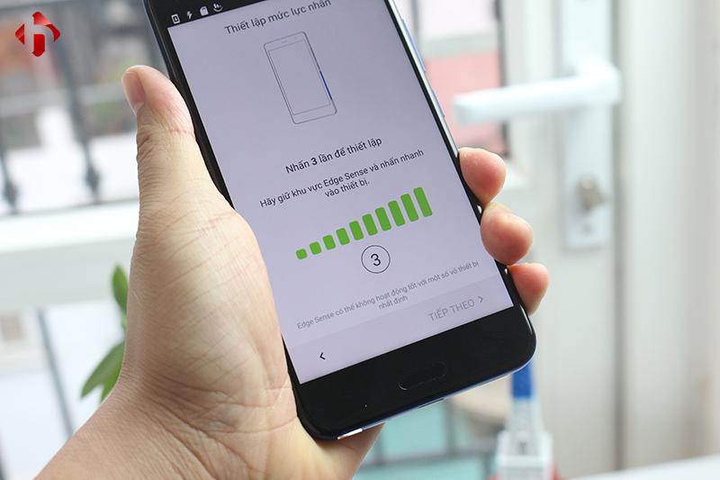 Tính năng Edge Sense trên HTC U11 Mỹ