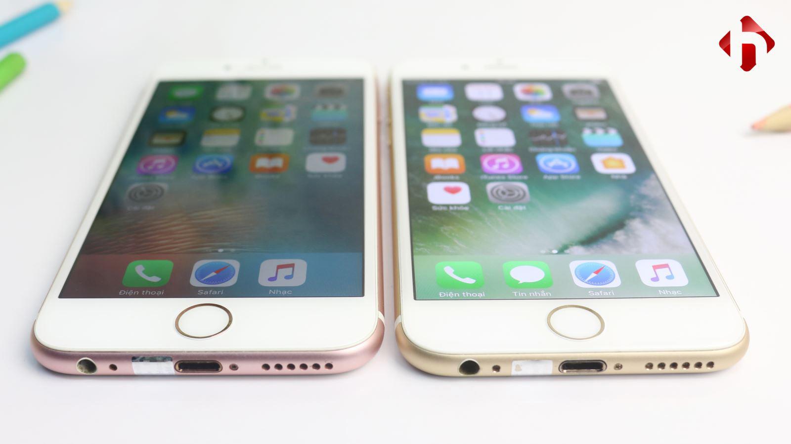 iPhone 6s trang bị 3D Touch, còn iPhone 6 thì không