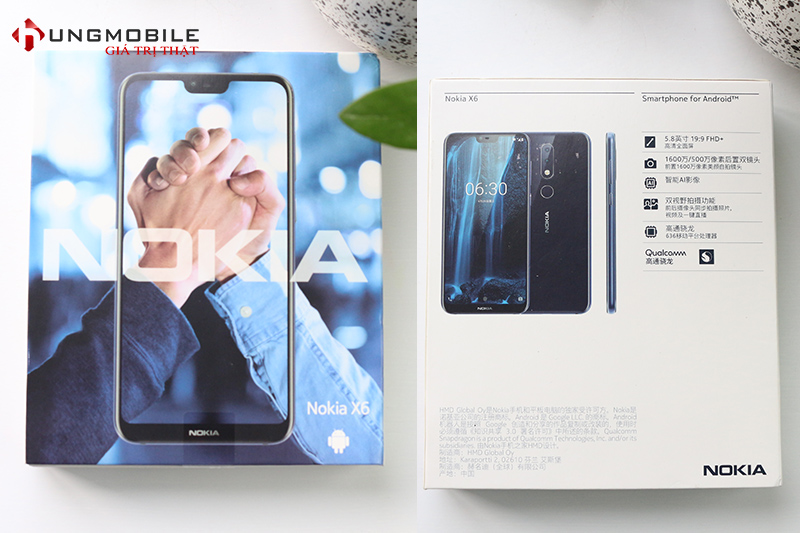 Hộp của Nokia X6 2018
