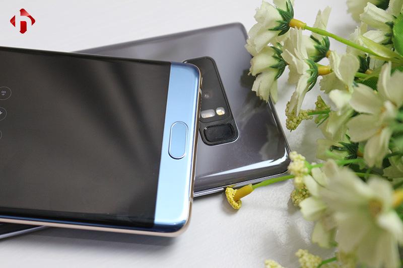 Cảm biến vân tay trên Galaxy Note Fe với Note 8