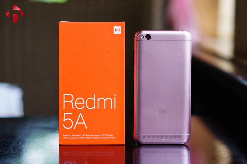 Thiết kế mặt sau Redmi 5A chính hãng