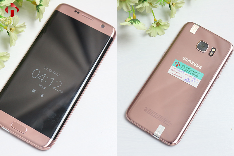 Mặt trước và mặt sau Galaxy S7 Edge Hàn