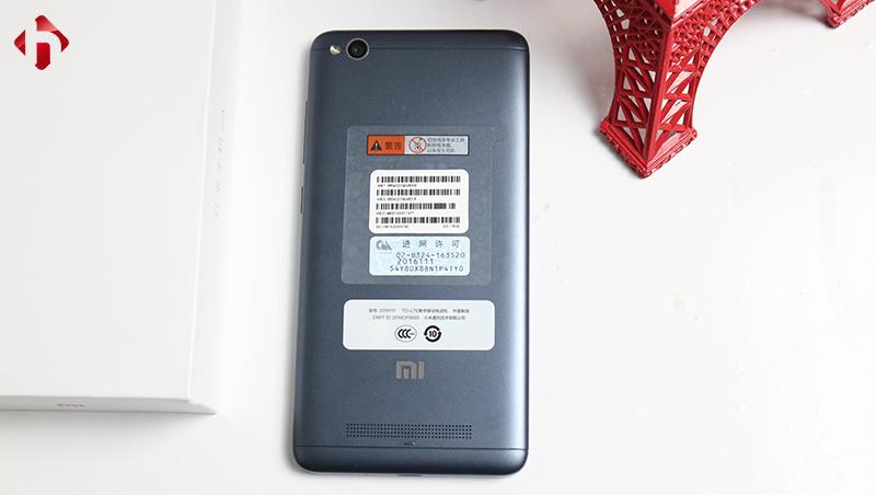 Thiết kế mặt sau của Xiaomi Redmi 4A