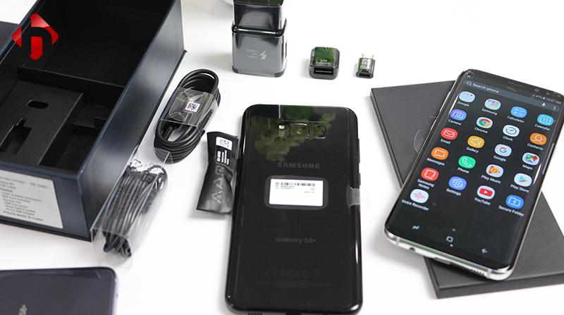 bên ngoài Galaxy S8 Plus Hàn