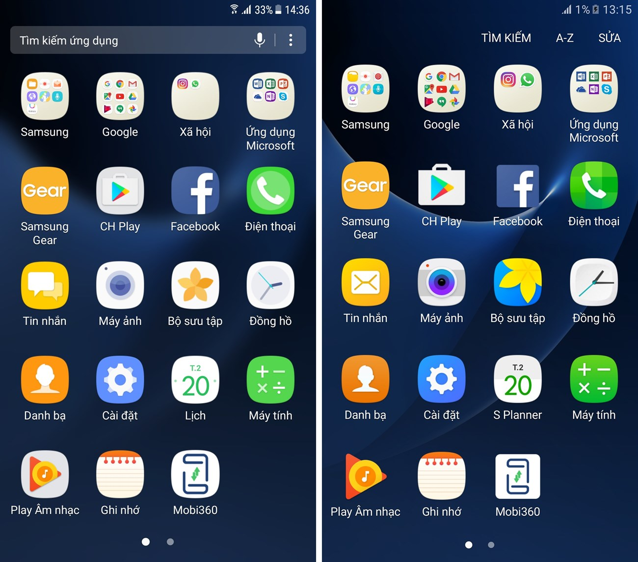 giao diện Android thuần