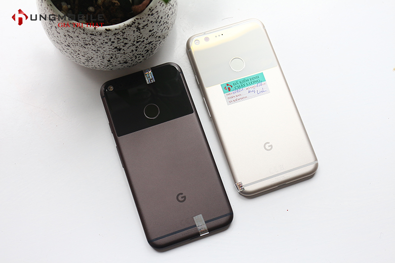 Thiết kế mặt sau của Google Pixel XL