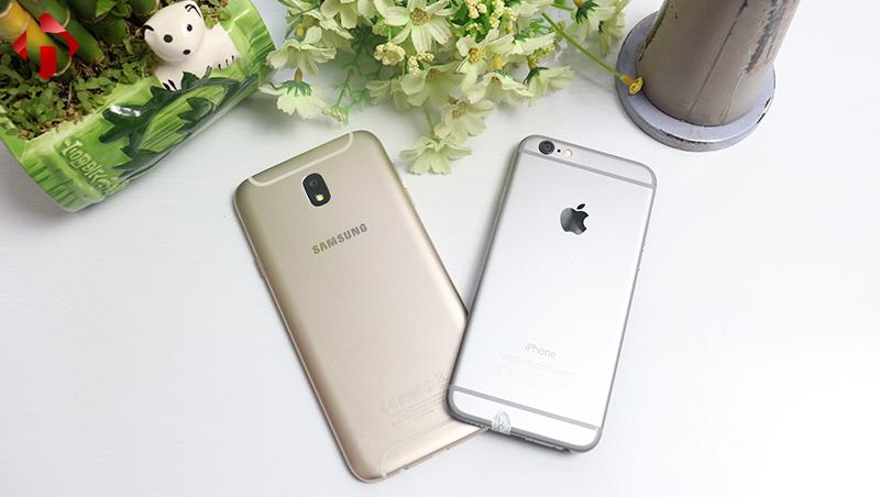 So sánh Galaxy J7 Pro Vs iPhone 6, nên mua máy nào trong khoảng giá 6 triệu đồng ?