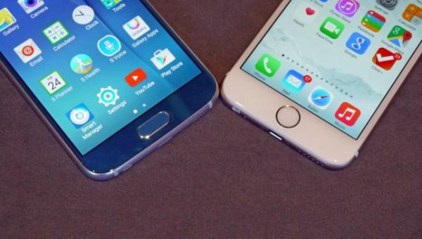 Cảm biến vân tay iphone 6 và samsung s6