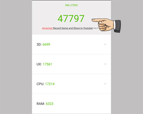 điểm hiệu năng antutu trên Samsung galaxy j7 pro