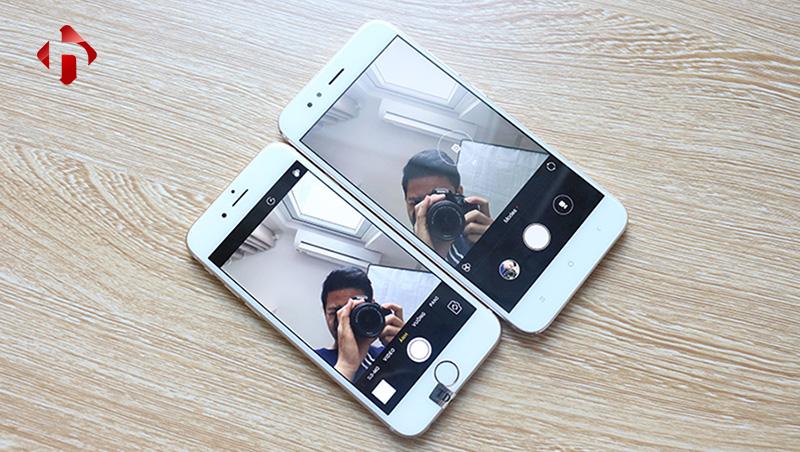 camera trước trên xiaomi mi 5x và iphone 6