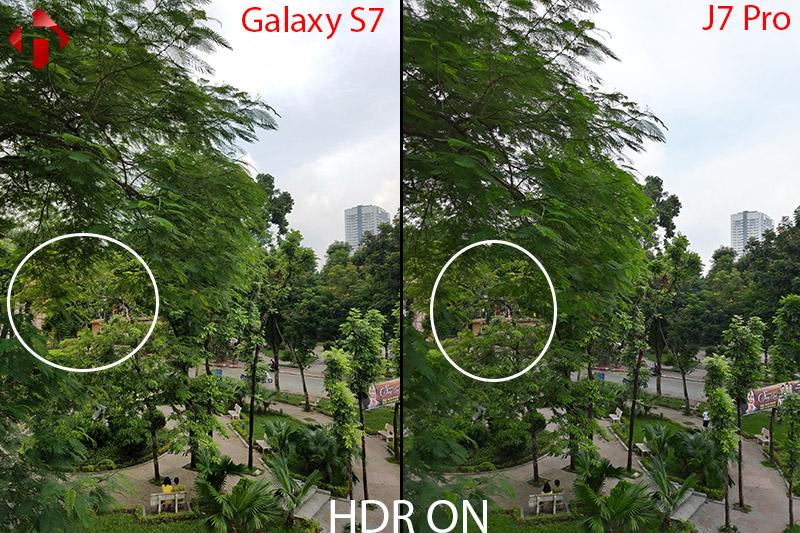 camera trên s7 và J7 pro