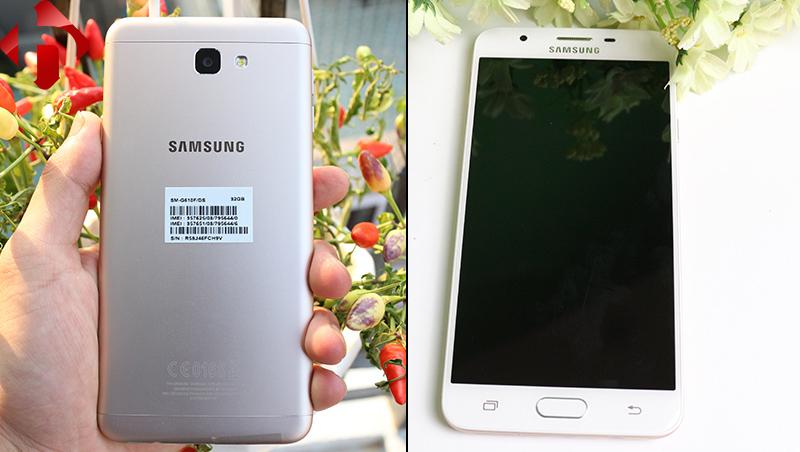 Ngoại hình của Samsung j7 prime chính hãng