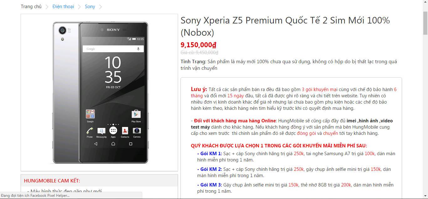 Giá Sony Z5 Premium