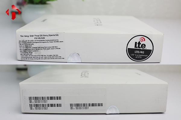 Thông tin hai cạnh bên Sony Xperia XA