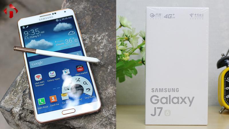 So sánh J7 2016 với Galaxy Note 3 Hàn