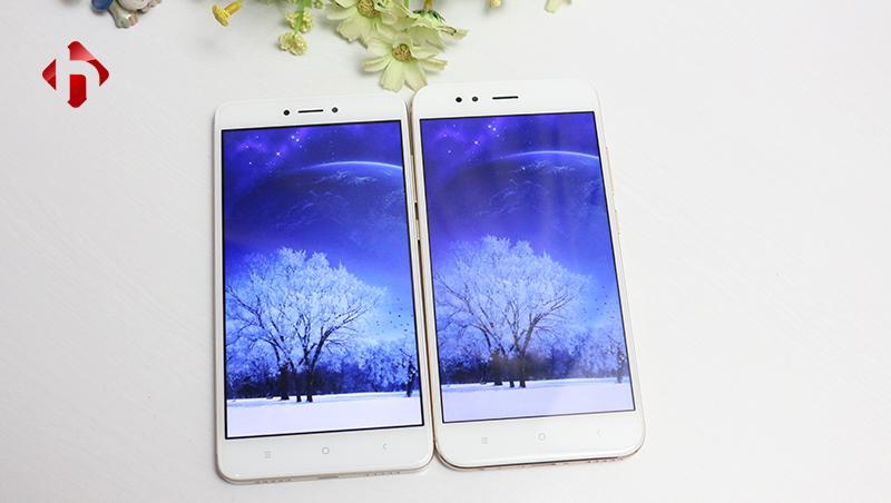 màn hình hiển thị trên Xiaomi mi 5x vs Note 4x