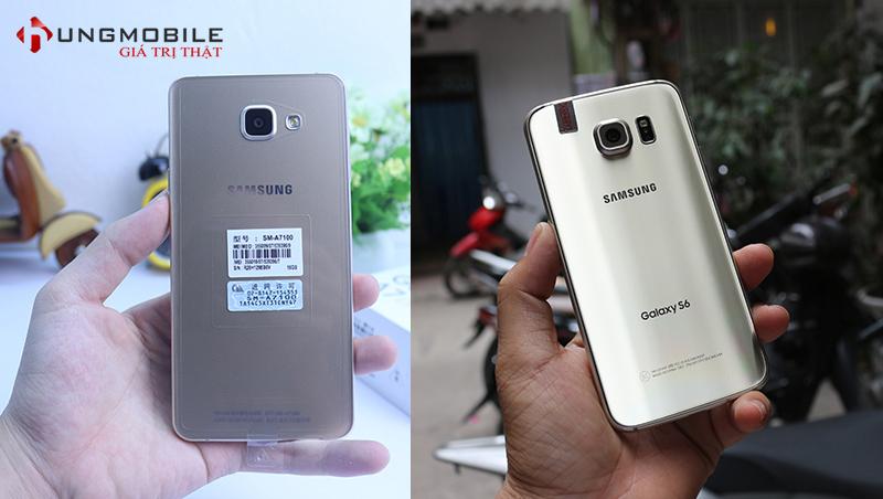 Thiết kế mặt sau Samsung Galaxy A7 2016 và S6