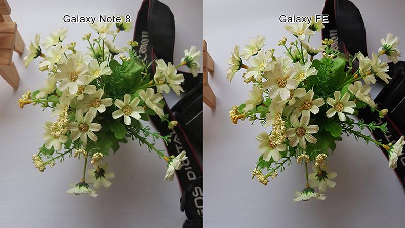 So sánh camera của Note Fe và Note 8