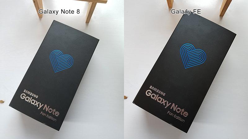 So sánh ảnh chụp note 8 và Note Fe