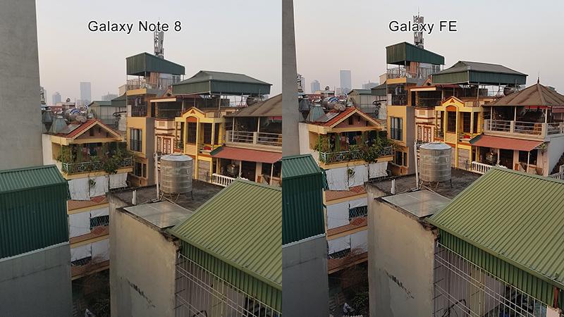 So sánh ảnh chup camera Note 8 và Galayx Note Fe