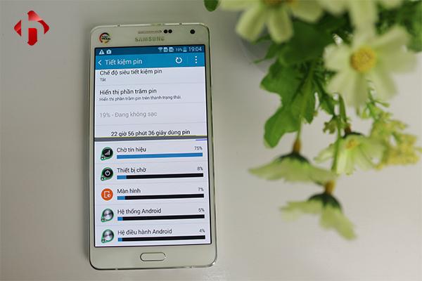Thời lượng pin trên Samsung Galaxy A7 2015