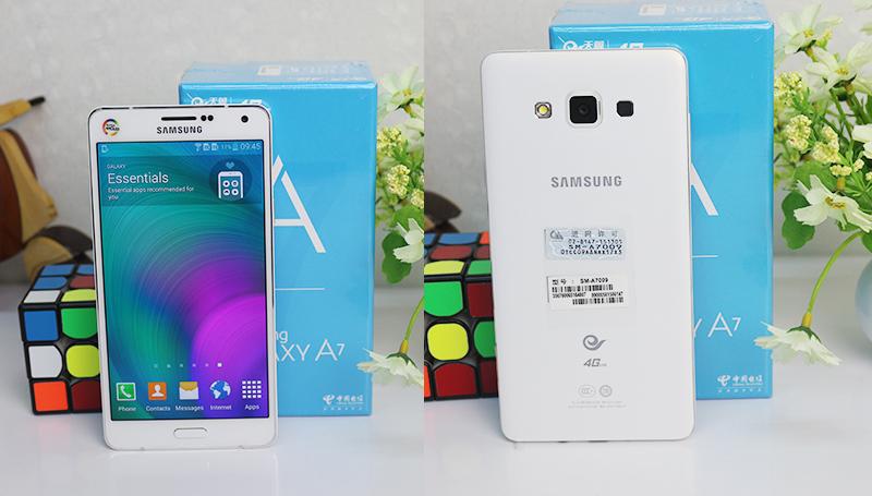Thiết kế mặt trước và mặt sau của Galaxy A7 2015