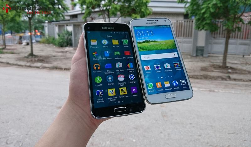 Phần mềm sử dụng giống như phiên bản Quốc Tế trên Samsung S5 hàng Mỹ