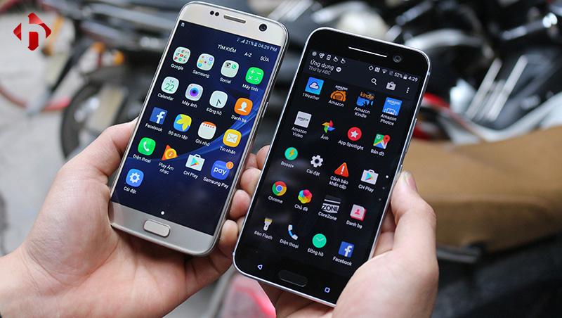 Giao diện trên HTC 10 và Galaxy S7