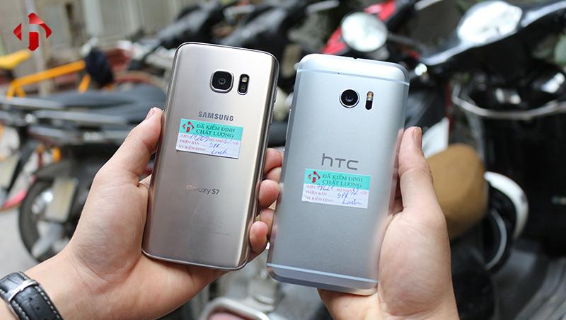 Thiết kế của S7 và HTC 10