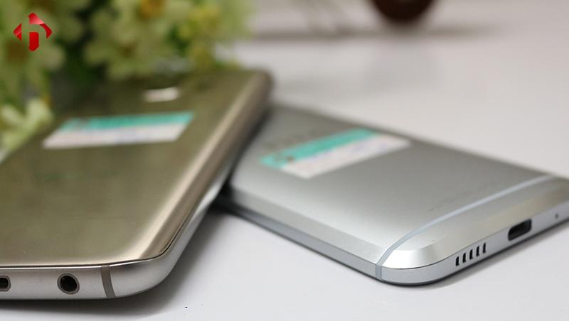 Các cạnh của HTC 10 và Galaxy S7