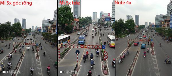 camera trên mi 5x vs redmi note 4x