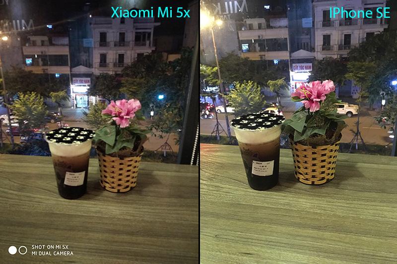 so sánh camera trên iPhone se và Xiaomi Mi 5x