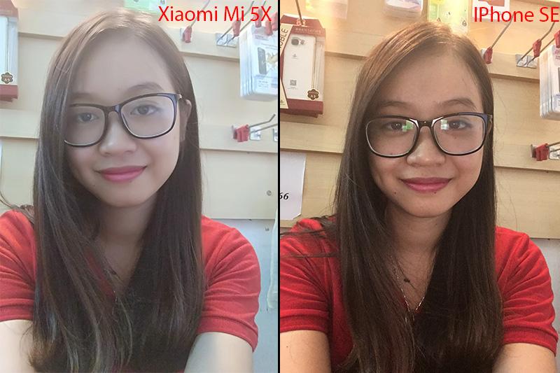 so sánh camera trên xiaomi mi 5x với iPhone SE