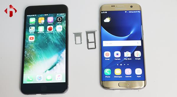 Galaxy S7 edge chống nước và có thêm thẻ nhớ ngoài