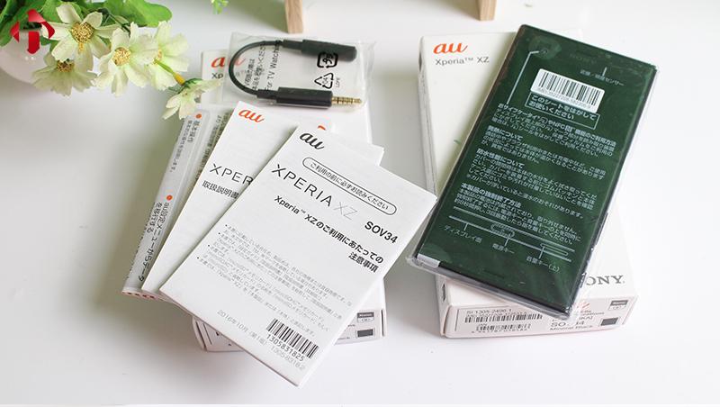 Phụ kiện đi kèm Sony XZ Nhật