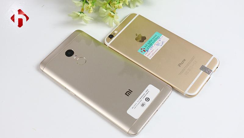thiết kế cảu xiaomi redmi note 4x và iphone 6